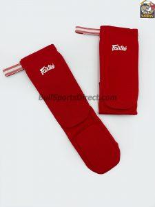 Fairtex-Elastic Shin Pads-Red