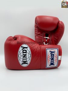 Windy Lace-Up Red Boxing Gloves