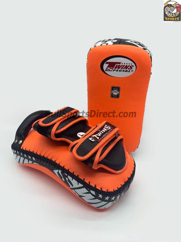 Twins-KPL-12 Deluxe Kicking Pads Orange Black