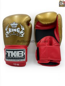 Top King Boxing Gloves Empower2 Red and Gold