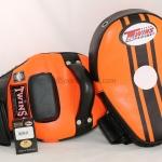 Twins-KPL-11 Curved Kicking Pads Black Orange