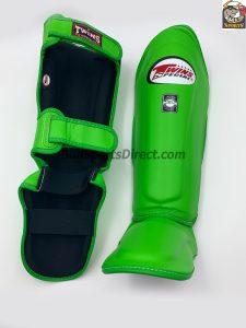 Twins Green Shin Guards SGL-10