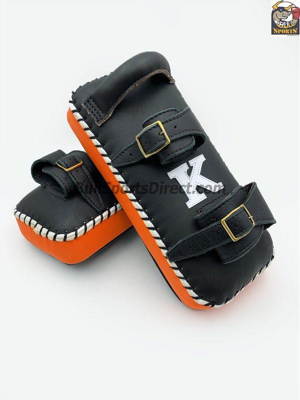 K-Kick Pads- Double Strap-Black Orange