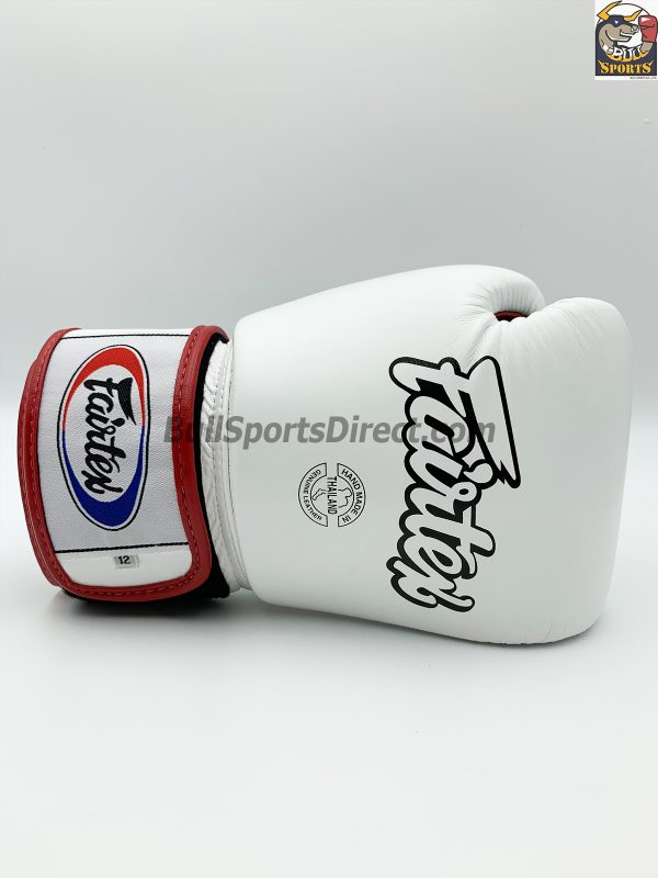 Fairtex BGV1-3T Boxing Gloves - White Black Red