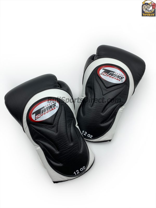 BGVL6 Black White Sparring Boxing Gloves by Twins