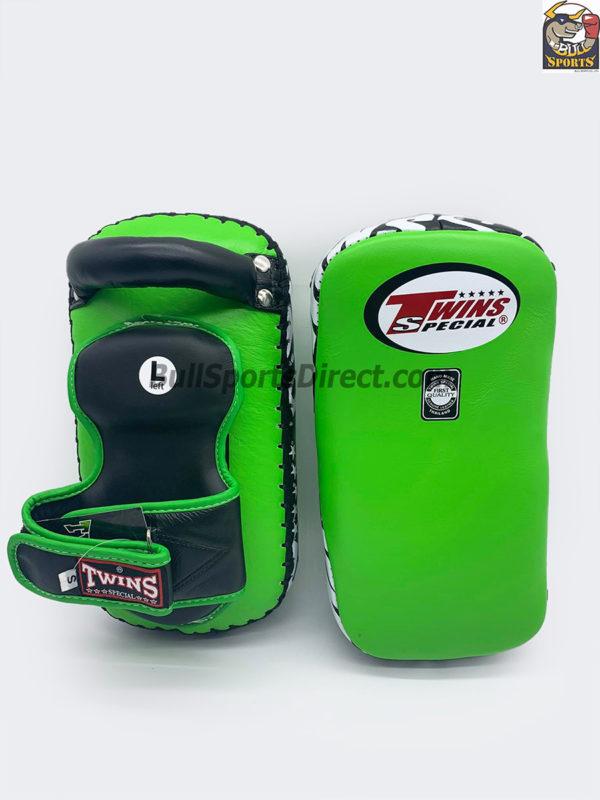 Twins-KPL-12 Deluxe Kicking Pads Black Green