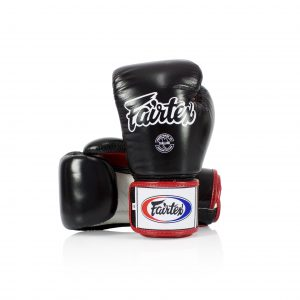 Fairtex BGV1-3T Boxing Gloves with Black White Red color