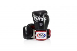 Fairtex Muay Thai Boxing Gloves BGV1 Black White Red