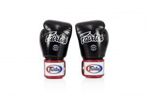 Fairtex BGV1-3T Black White Red Boxing Gloves
