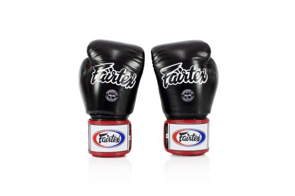 Fairtex BGV1-3T Black White Red Boxing Gloves
