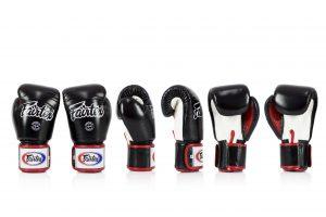 Fairtex BGV1 Microfiber Boxing Gloves Black White Red