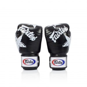 Fairtex BGV1 Boxing Gloves Black Nation Print Tight Fit