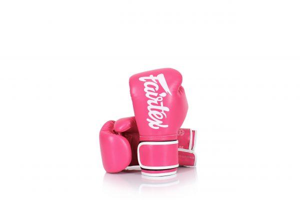Fairtex Microfiber Gloves BGV14 Pink and White