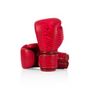 Fairtex Microfiber Boxing Gloves BGV14 Red Strip Artist