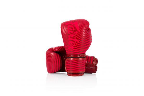 Fairtex Microfiber Boxing Gloves BGV14 Red Strip Artist