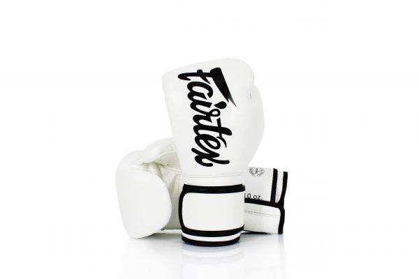 Fairtex BGV14 Microfiber White Boxing Gloves - Lightweight
