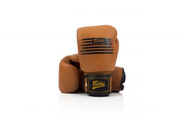 Fairtex BGV21 Muay Thai Classic Brown Boxing Gloves