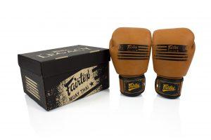 Fairtex BGV21 Muay Thai Legacy Boxing Gloves with Brown Color