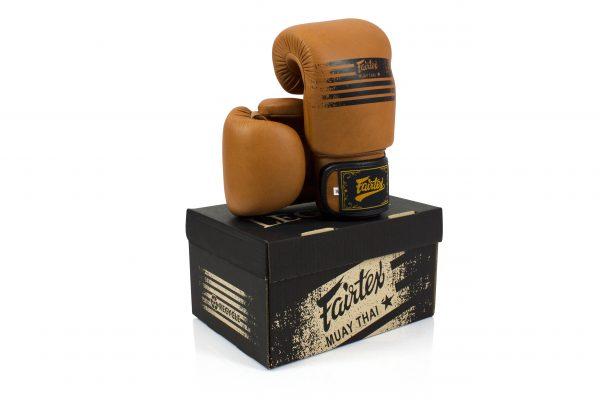 Fairtex Muay Thai Legacy Boxing Gloves - BGV21 Brown Color