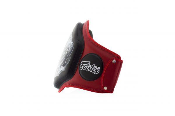 Fairtex Belly Pad Red Black-BPV3