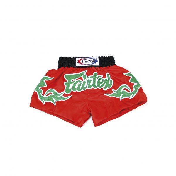 Fairtex Muay Thai Shorts- Green Shiny Thai Arts