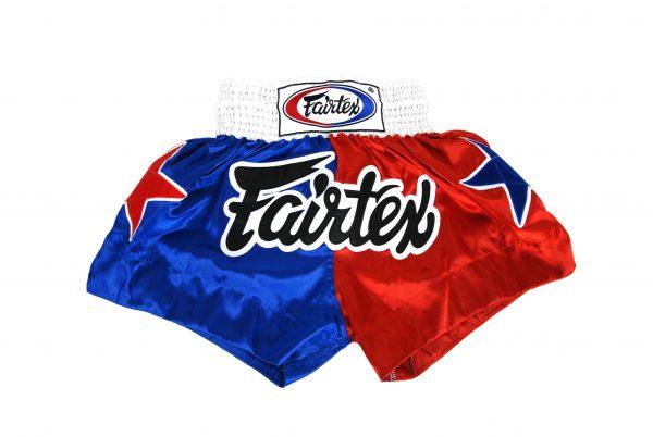 Fairtex Muay Thai Shorts-2 Tones Blue Red