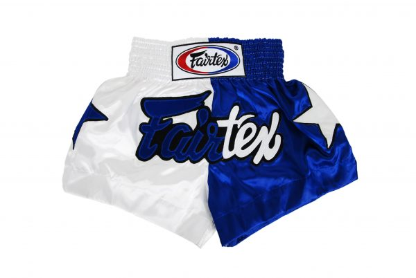 Fairtex Muay Thai Shorts-2 Tones White and Blue
