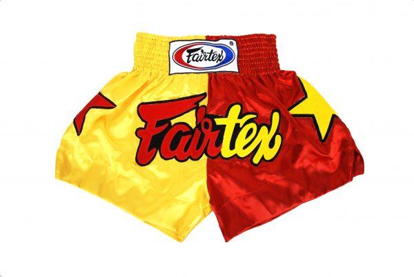 Fairtex Muay Thai Shorts-2 Tones Yellow and Red