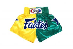 Fairtex Muay Thai Shorts-2 Tones Yellow and Green