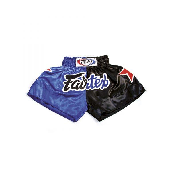 Fairtex Muay Thai Shorts- 2 Tones Blue and Black
