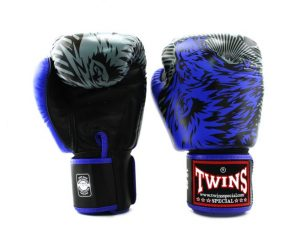 Twins FBGV-50-Blue Wolf Boxing Gloves