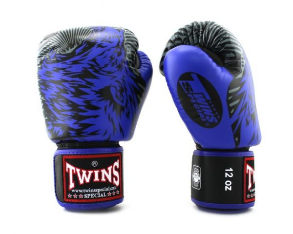 Twins Boxing Gloves-FBGV-50-Wolf Blue