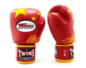 Twins China Flag Boxing Gloves BGV-44