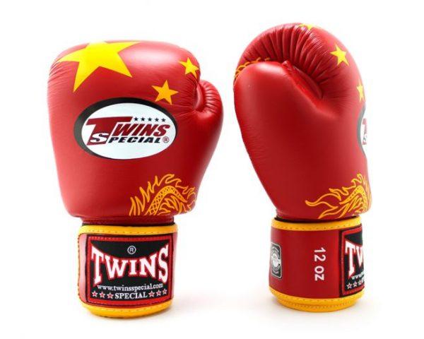 Twins China Flag Boxing Gloves BGV-44