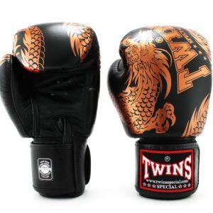 Twins Copper Black Boxing Gloves-FBGV-49