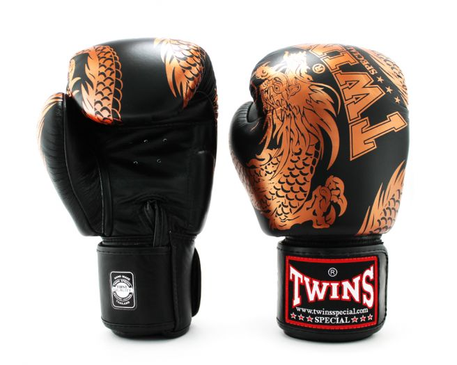 Twins Special FBGV-49 Dragon Sport Leather Muay Thai Boxing Gloves Fighting