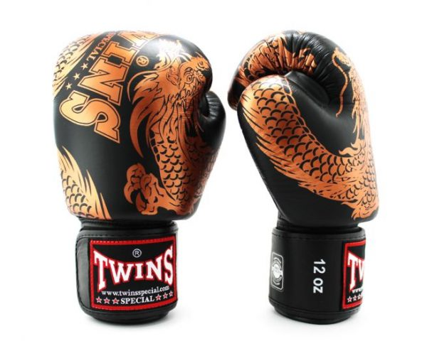 Twins Boxing Gloves-FBGV-49 Copper Black