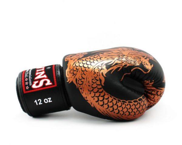 Twins Boxing Gloves-FBGV-49 Copper Black Flying Dragon