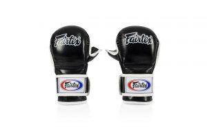 Fairtex Double Wrist Wrap Closure MMA, Black Sparring Gloves - FGV15
