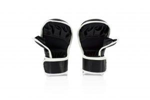 FGV15 Fairtex MMA Black Sparring Gloves with Double Wrist Wrap Closure