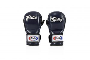 Fairtex FGV15 Blue Double Wrist Wrap Closure MMA Sparring Gloves