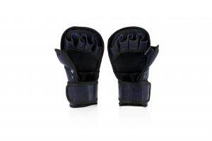FGV15 Fairtex MMA Blue Sparring Gloves with Double Wrist Wrap Closure