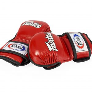 Fairtex Double Wrist Wrap Closure MMA Red Sparring Gloves - FGV15