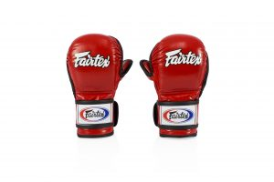 Fairtex - FGV15 Sparring Gloves Double Wrist Wrap Closure with red color
