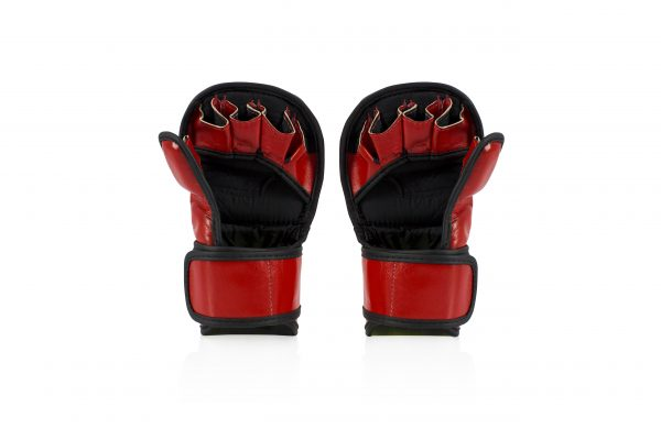 Fairtex Double Wrist Wrap Closure MMA Sparring Gloves - FGV15 Red Color
