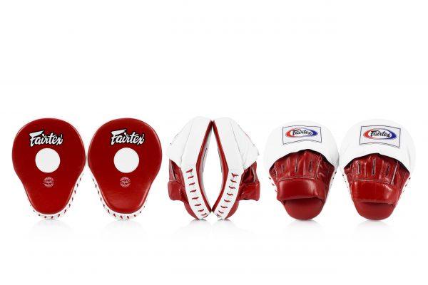 Fairtex FMV9 Red/White Contoured Focus Mitts
