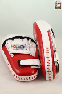 Fairtex FMV8 Red/White Pro Angular Focus Mitts
