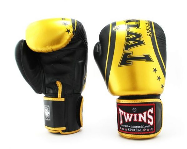 Twins Fancy Boxing Gloves-FBGV-TW4 Black Gold