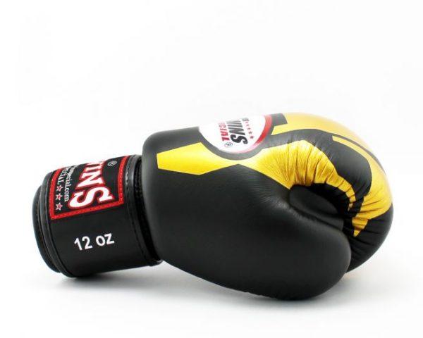 Twins Boxing Gloves-FBGV-46-Transformer Gold-Black
