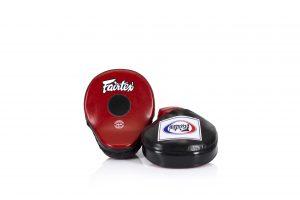 Fairtex FMV9 Black/Red Contoured Focus Mitts